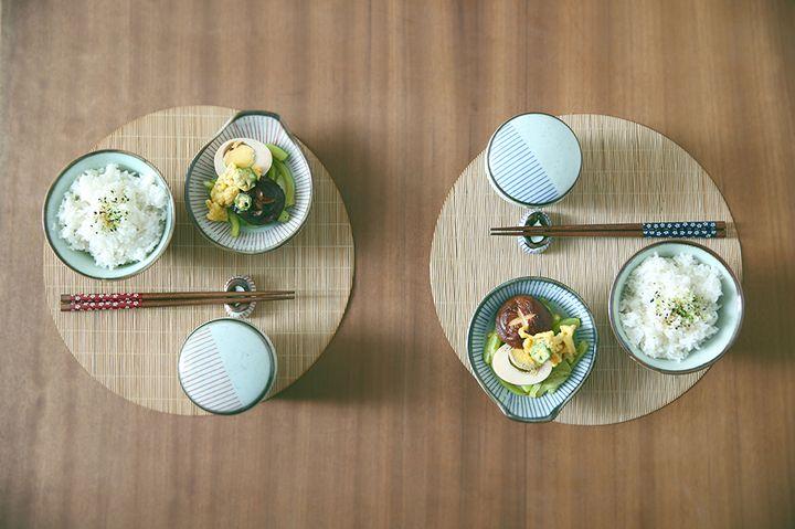 日式樱花雪花釉一人食餐具套装单人陶瓷碗碗筷碗盘碟碗盘子碗家用